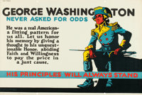 """George Washington Never Asked For Odds (1923). Mather and Company Motivational Poster (41.5"""" X 28"""")"""