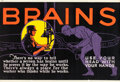 "Movie Posters:Miscellaneous, Brains (1923). Mather and Company Motivational Poster (41.5"" X28"").. ..."