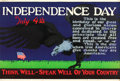 "Movie Posters:Miscellaneous, Independence Day (1923). Mather and Company Motivational Poster(41.5"" X 28"").. ..."