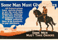 "Movie Posters:Miscellaneous, Some Men Must Give Orders (1923). Mather and Company Motivational Poster (41.5"" X 28"").. ..."