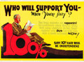 "Movie Posters:Miscellaneous, Who Will Support You? (1923). Mather and Company MotivationalPoster (41.5"" X 28"").. ..."