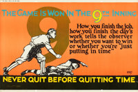 "The Game is Won in the 9th Inning (1923). Mather and Company Motivational Poster (41.5"" X 28"")"