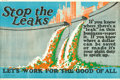 "Movie Posters:Miscellaneous, Stop the Leaks (1923). Mather and Company Motivational Poster (41.5"" X 28"").. ..."