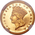 Proof Gold Dollars, 1872 G$1 PR64+ Cameo NGC. CAC....