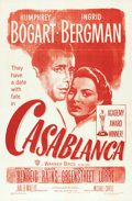 "Movie Posters:Academy Award Winners, Casablanca (Warner Brothers, R-1949). Military One Sheet (27"" X 41"").. ..."