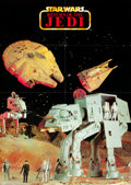 """Movie Posters:Science Fiction, Return of the Jedi (Kenner, 1983). German Toy Vehicle Poster (23.5""""X 33"""") DS. From the collection of the late John L. Wil..."""
