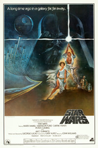 "Star Wars (20th Century Records, 1977). Soundtrack One Sheet (27"" X 41""). From the collection of the late John..."