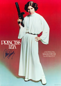 """Star Wars & The Empire Strikes Back (Factors, 1977 & 1980). Autographed Character Posters (2) (20""""..."""