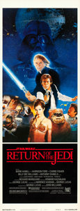 "Movie Posters:Science Fiction, The Empire Strikes Back & Return of the Jedi (20th Century Fox,1980 & 1983). Inserts (4) (14"" X 36"") Styles A & B. Fromt... (Total: 4 Items)"