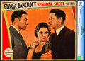 "Movie Posters:Crime, Scandal Sheet (Paramount, 1931). Lobby Card (11"" X 14"").. ..."