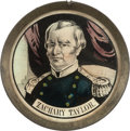 Political:Ferrotypes / Photo Badges (pre-1896), Zachary Taylor: Pewter Rim Mirror....