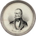 Political:Ferrotypes / Photo Badges (pre-1896), Henry Clay: Pewter Rim Mirror....