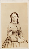 Photography:CDVs, Carte de Visite of Olive Oatman, Survivor of the Oatman Massacre and Held Five Years in Captivity by Yavapais Indians....