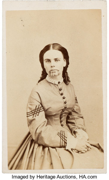 PhotographyCDVs Carte De Visite Of Olive Oatman Survivor The OatmanMassacre And