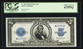 Large Size:Silver Certificates, Fr. 282* $5 1923 Silver Certificate PCGS Superb Gem New 67PPQ.. ...