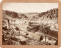 "Photography:Cabinet Photos, Silver Print Photograph: ""Cambria Mine, Wyoming on the B. & M. R. R.""..."