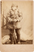 Photography:Cabinet Photos, Albumen Cabinet Card: Frontiersman with Winchester Rifle....