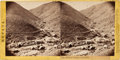 Photography:Stereo Cards, Albumen Stereoview: Bower's Canyon, Gold Hill (Wells Fargo)....