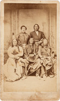 Photography:CDVs, Scarce CDV: Sitting Bull, Swift Bear, Spotted Tail, Red Cloud, and Julius Meyer....