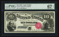 Large Size:Legal Tender Notes, Fr. 110 $10 1880 Legal Tender PMG Superb Gem Unc 67 EPQ.. ...