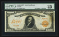 Large Size:Gold Certificates, Fr. 1219b $1000 1907 Gold Certificate PMG Very Fine 25.. ...