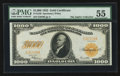 Large Size:Gold Certificates, Fr. 1220 $1000 1922 Gold Certificate PMG About Uncirculated 55.. ...
