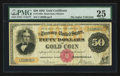 Large Size:Gold Certificates, Fr. 1192a $50 1882 Gold Certificate PMG Very Fine 25.. ...