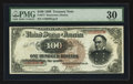 Large Size:Treasury Notes, Fr. 377 $100 1890 Treasury Note PMG Very Fine 30.. ...