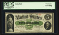 "Large Size:Demand Notes, Fr. 1a $5 1861 ""for the"" Demand Note PCGS Extremely Fine 45PPQ....."