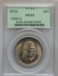 Commemorative Silver: , 1946-S 50C Booker T. Washington MS66 PCGS. PCGS Population(405/68). NGC Census: (416/76). Mintage: 500,279. Numismedia Wsl...