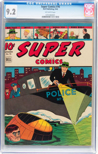 Super Comics #76 (Dell, 1944) CGC NM- 9.2 Off-white pages