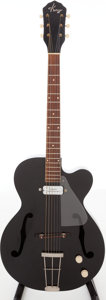 Musical Instruments:Electric Guitars, 1960s Kay Swingmaster Black Archtop Electric Guitar. ...