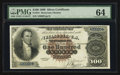 Large Size:Silver Certificates, Fr. 341 $100 1880 Silver Certificate PMG Choice Uncirculated 64.....