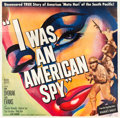"Movie Posters:Drama, I Was an American Spy (Allied Artists, 1951). Six Sheet (81"" X81"").. ..."