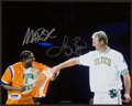 Basketball Collectibles:Photos, Magic Johnson and Larry Bird Multi Signed Photograph....