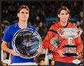 Miscellaneous Collectibles:General, Roger Federer and Rafael Nadal Multi Signed Photograph....
