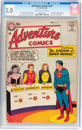 Silver Age (1956-1969):Superhero, Adventure Comics #247 (DC, 1958) CGC GD 2.0 Cream to off-white pages....