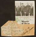 Baseball Collectibles:Photos, Circa 1930s Babe Ruth Signed Newspaper Clipping With Charlie GrimmAutograph. ...