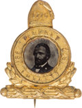Political:Ferrotypes / Photo Badges (pre-1896), Ulysses S. Grant: Superlative Liberty Cap Ferrotype Badge....
