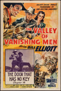 "Movie Posters:Serial, The Valley of Vanishing Men (Columbia, 1942). One Sheet (27"" X 41"") Chapter 14 -- ""The Door That Has No Key."" Serial.. ..."