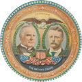 Political:3D & Other Display (1896-present), McKinley & Roosevelt: Highly Colorful Jugate Beer Tray....