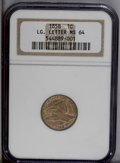 Flying Eagle Cents: , 1858 1C Large Letters MS64 NGC. High Leaves Reverse. The lustrous surfaces show a moderate overlay of brown patina that par...