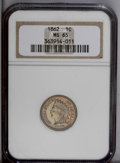 Indian Cents: , 1862 1C MS65 NGC. The obverse shares lemon and apricot toning, while the reverse displays light peach. A satiny and nearly ...