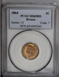 Indian Cents: , 1864 1C Bronze No L MS65 Red PCGS. This lustrous Gem is exceptional from a technical perspective, since no abrasions or car...