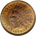 Indian Cents: , 1864 1C L On Ribbon MS66 Red and Brown NGC. Rarely encountered in such a superior state of preservation, the 1864-L is coll...