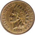 Indian Cents: , 1877 1C XF45 PCGS. A well-defined example of this rare, low mintage date in the popular Indian cent series. Lightly abraded...