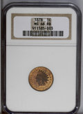 Indian Cents: , 1878 1C MS66 Red and Brown NGC. Nicely struck with mottled golden-orange and chestnut on its well-preserved surfaces. Some ...
