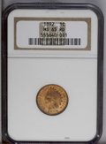 Indian Cents: , 1892 1C MS65 Red NGC. A thoroughly original Gem with rich copper-red and bold definition. A small patch of olive perches on...