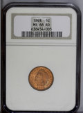 Indian Cents: , 1893 1C MS66 Red NGC. This is an eye-catching example due to its vivid, iridescent original red color. The luster is blazin...