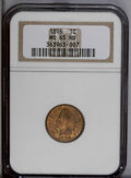 Indian Cents: , 1896 1C MS65 Red NGC. This golden piece exhibits occasional olive and rose hues. A lustrous and crisply impressed Gem with ...